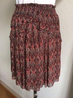 Iro Miniskirt dark red-oatmeal viscose