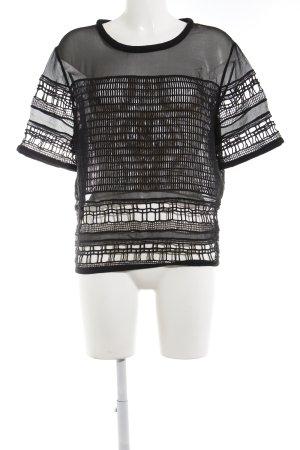 Iro Seidentop schwarz abstraktes Muster Street-Fashion-Look