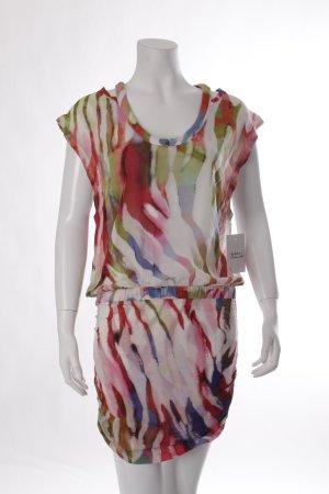 Iro Shirtkleid magenta-grün abstraktes Muster extravaganter Stil