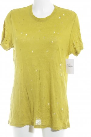 Iro Knitted Jumper lime yellow loosely knitted pattern second hand look