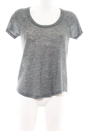Iro T-Shirt hellgrau meliert Casual-Look