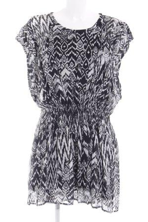 Iro Tunika schwarz-wollweiß abstraktes Muster Street-Fashion-Look