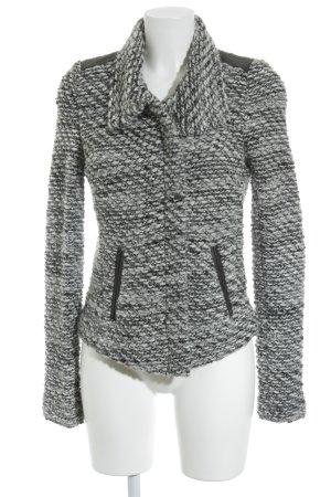 Iro Veste en laine blanc cassé-noir motif tricoté lâche style décontracté
