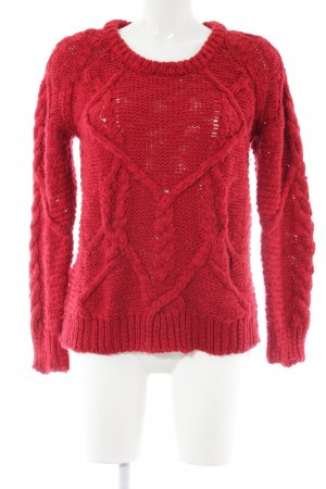 Iro Cable Sweater red cable stitch casual look