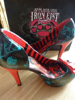 Iron Fist High Heels Rockabilly Anker Pumps Goth Schuhe 40