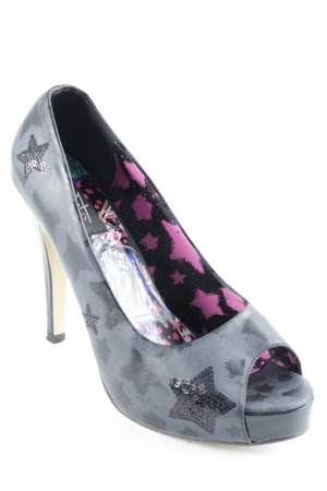 Iron fist Peeptoe Pumps Sternenmuster Party-Look