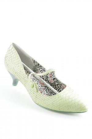Irregular choice Escarpins Mary Jane vert clair motif à chevrons