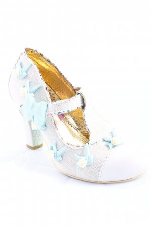 Irregular choice T-Steg-Pumps beige-hellblau Animalmuster extravaganter Stil