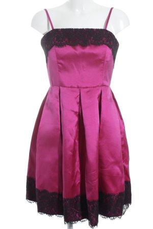 Isaac Mizrahi Abendkleid schwarz-violett Elegant