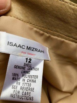 Isaac Mizrahi Gonna in pelle beige Pelle