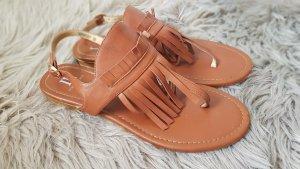 Isabell Flip-Flop Sandals cognac-coloured