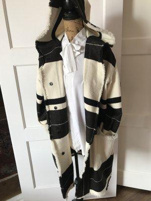 Isabel Marant Oversized Coat natural white-black
