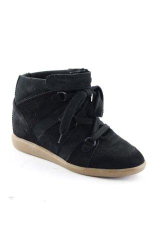 Isabel Marant Sneakers met hak zwart-bruin atletische stijl