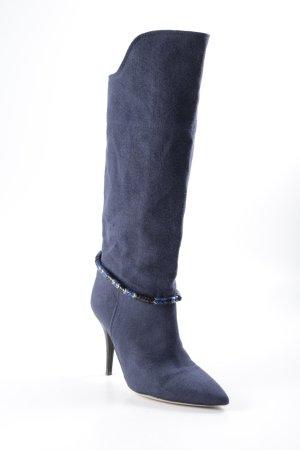 Isabel Marant Bottes à talon bleu acier style décontracté
