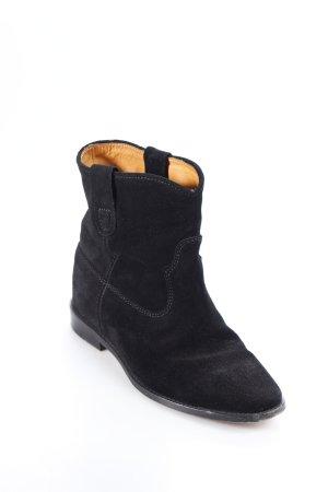 Isabel Marant Ankle Boots schwarz Wildleder-Optik