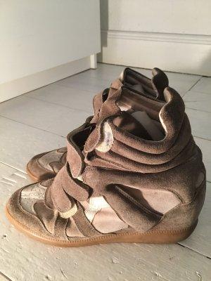 Isabel Marant Wedge Sneaker beige-olive green leather