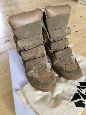 Isabel Marant Bekett Sneaker Suede Taupe