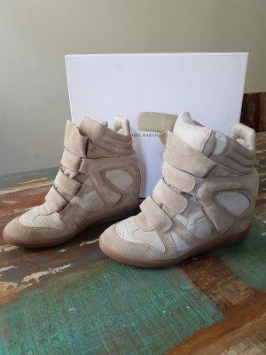 Isabel Marant Bekett Wedge Sneakers Beige Gr. 40