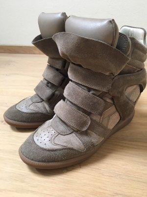 Isabel Marant Bekett Wedge Sneakers Wildleder 40 Khaki