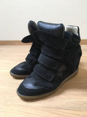 Isabel Marant Bekett Wedge Sneakers Wildleder 40 Schwarz