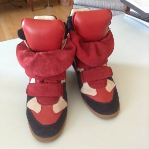 Isabel Marant Bekket High Top Seude Wedge Sneakers
