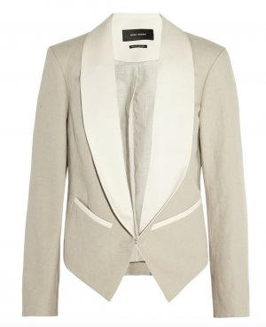 Isabel Marant Blazer Kurz Jacke Beige 38 M Cotton Blend Jacket Daisy Tuxedo Top