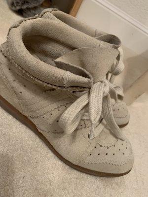 Isabel Marant Sneaker alta beige chiaro
