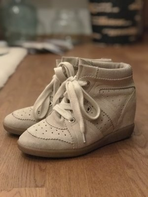 Isabel Marant Bobby Sneaker in Beige / Creme