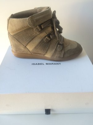 Isabel Marant Bobby Sneaker Wedges taupe