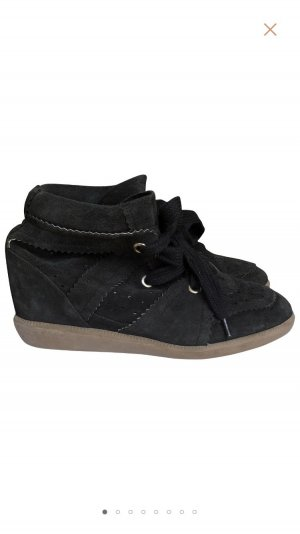 Isabel Marant Wedge Sneaker black suede