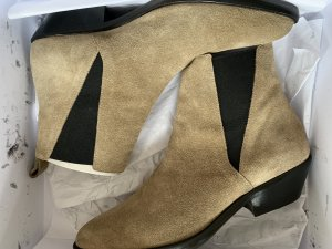 Isabel Marant Booties in Beige Chelsea Boots 40 Ankle Boots Drenky aus Veloursleder