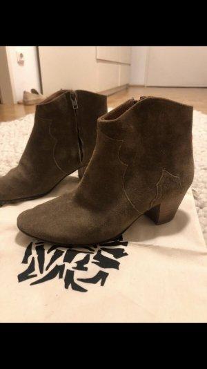 Isabel Marant Chelsea laarzen lichtbruin-taupe