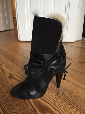 Isabel Marant Lace-up Booties black suede