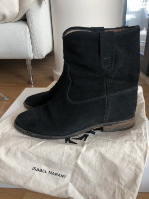 Kleidung & Accessoires Stiefellete Isabel Marant 37 Khaki Boots Lammfell Fixing Prices According To Quality Of Products Damenschuhe