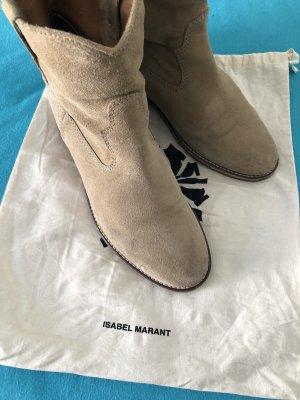 Isabel Marant Stivaletto con zeppa beige chiaro