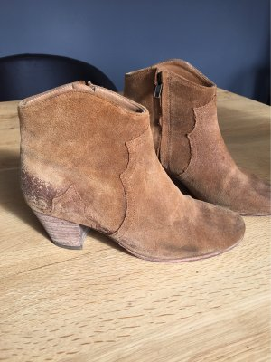Kleidung & Accessoires Stiefel & Stiefeletten Stiefellete Isabel Marant 37 Khaki Boots Lammfell Fixing Prices According To Quality Of Products