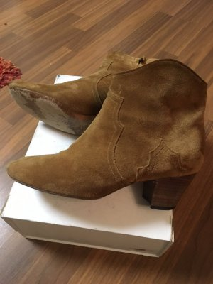 Isabel Marant Dicker Suede Ankle Boots camel Gr. 40