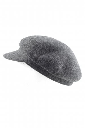 Isabel Marant Étoile Baker's Boy Cap light grey allover print casual look