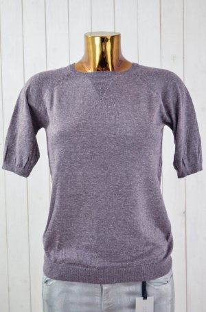 ISABEL MARANT ÉTOILE Damen Pullover Kurzarm Polyester Seide Lila-Grau Gr.1