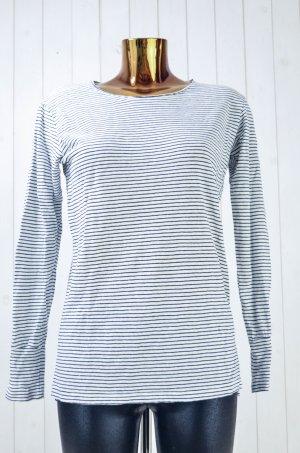 ISABEL MARANT ÈTOILE Damen Shirt Oberteil Weiß Schwarz Leinen Oversized Gr.S