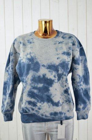 ISABEL MARANT ÉTOILE Damen Sweatshirt Batik Grau Blau Baumwolle Gr.M
