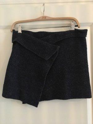 Isabel Marant Étoile Jupe portefeuille gris anthracite-noir laine