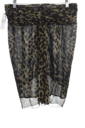 Isabel Marant Étoile Faltenrock schwarz-khaki Animalmuster Eleganz-Look