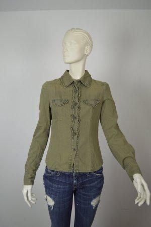 Isabel Marant ÉTOILE Jeans Bluse Gr. 36 / S Grün Khaki