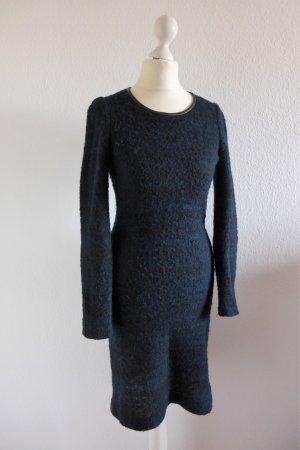 Isabel Marant Etoile Langarm Strickkleid schwarz blau Gr. 1 34 36 XS S
