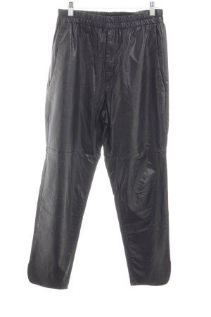Isabel Marant Étoile Pantalone in pelle nero stile stravagante