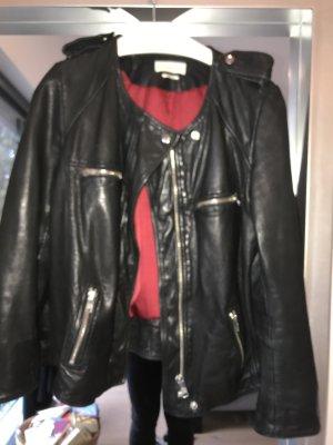 Isabel Marant Etoile Lederjacke schwarz Gr 40