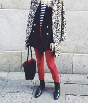 Isabel Marant Etoile rote Cordhose hoch tailliert Kord Taillenhose Größe 34