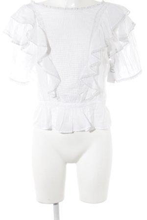 Isabel Marant Étoile Rüschen-Bluse weiß Romantik-Look