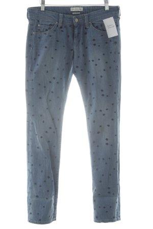 Isabel Marant Étoile Slim Jeans himmelblau-blau Punktemuster Casual-Look